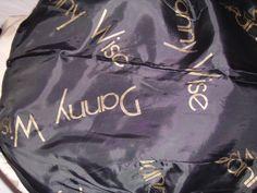 """Tutte le fodere delle Crazioni  DANNY WISE Haute Couture sono  vere e proprie opere d'arte , pezzi unici , anche le fodere personalizzate dette  """"parlate"""" sempre in oro 3 MK."""