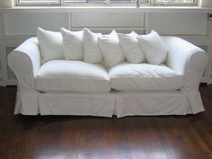 This cloud of a couch would be a divine fit for this room    #onekingslane #designisneverdone