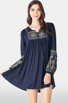 Vestido túnica azul