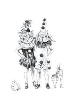 Veggie Friends art print - limited edition