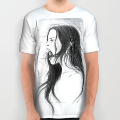 #alloverprint #tshirt #scream #woman #graphite