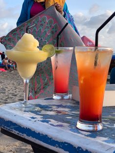 Nothing says 'we're here' like a cheeky welcome cocktail on the beach