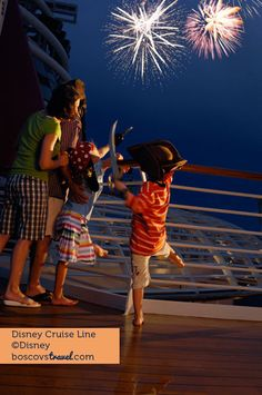 Fireworks Onboard Disney Cruise Line #Travel #Cruise #Disney