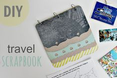 DIY Travel Scrapbook with ideas for keepsakes to collect on your travels