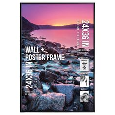 "Perfect for decorating your home or dorm, this poster frame fits a 24"" x 36"" photo, poster, or art print.  The slim tube frame in black finish gives the poster frame a minimal profile that will add style to any room.  The hinged sawtooth hangers make it easy to display horizontally or vertically and the plexi-glass cover will keep your poster protected."