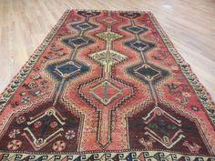 Ca1930sVGDY ANTIQUE PERSIAN QASHQAI YALAMEH SERAPI HERIZ RUG 4.4x8 ESTATE SALE in Antiques, Rugs & Carpets | eBay