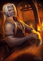 Commission: Jerak the tavern keeper by Xelgot