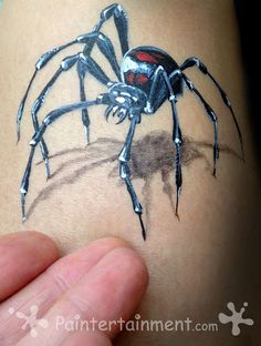 Black Widow by Gretchen Fleener: Click for step by step and product links
