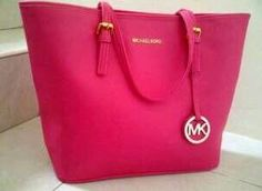 Saw a lady carrying MK bag, fluorescent neonish pink and fell in love with it. Couldn't find a similar one though, this is the closest to it.