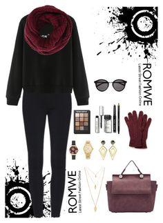 """Romwe 8"" by amra-f ❤ liked on Polyvore featuring moda, BCBGMAXAZRIA, Lacoste, Olivia Burton, Forever 21, Michael Kors, Sarah Magid, Sonia Kashuk, Bobbi Brown Cosmetics e Yves Saint Laurent"