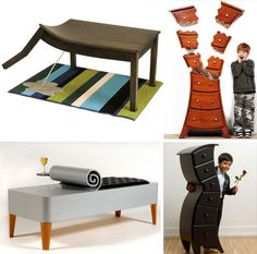 These 15 incredibly creative furniture designs are as much fine art and entertainment as they are functional seating, tables, beds and storage.