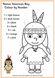 Heres A Cute Native American Boy Coloring Page Just One Of Set Thanksgiving Pages For Younger Kids At Activity Village