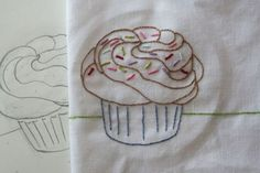 Cupcake /embroidery