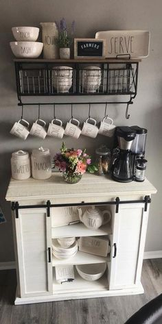 101 Outstanding DIY Coffee Bar Ideas for Your Cozy Home / Coffee Shop - Coffee M. - 101 Outstanding DIY Coffee Bar Ideas for Your Cozy Home / Coffee Shop – Coffee Maker – Ideas of Coffee Maker – Coffee bar coffee stations corner Cozy House, Diy Kitchen Storage, Kitchen Decor, Coffee Bars In Kitchen, Home Decor, Bars For Home, Home Coffee Stations, Home Kitchens, Diy Kitchen