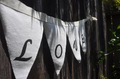Fabric LOVE banner - now selling on ETSY