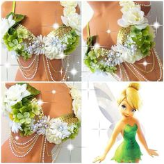 Tinkerbell Rave Bra by TheLoveShackk on Etsy