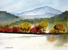 Mountain Colors - Original Watercolor Painting