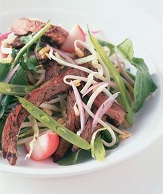 Summer Beef Salad With Cilantro from realsimple.com #myplate #vegetables #protein