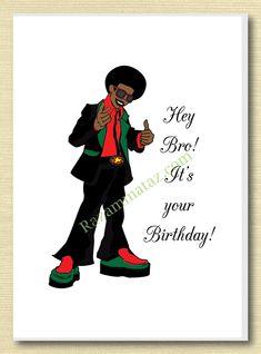 African American Brother Birthday Card B