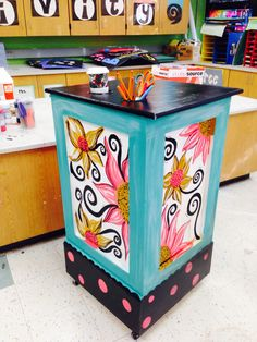 And then she got her hands on my creation and painted it fun and funky!  Love my art teacher wife!!