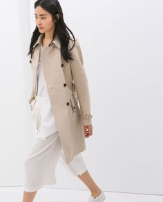 COTTON TRENCH COAT from Zara