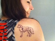 My canis major constellation sirius star tattoo. Resembles my Sheltie!