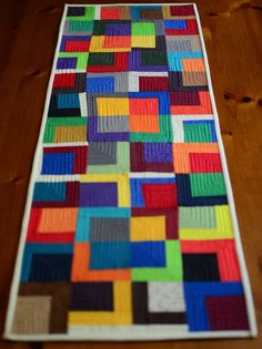 Wonky quilted table runner