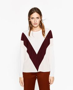 Image 2 of COLOUR BLOCK TOP from Zara