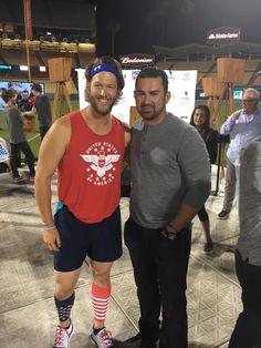 Clayton Kershaw & Adrian Gonzales at Dodger Stadium.
