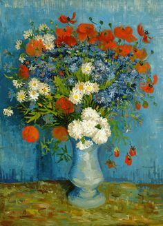 lonequixote:  Vase With Cornflowers And Poppies~Vincent van Gogh