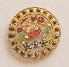 Antique Floral Victorian Button Open And Pierced