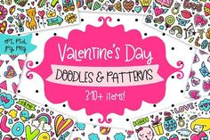cool Valentine's Day Clipart & Patterns!  CreativeWork247 - Fonts, ...