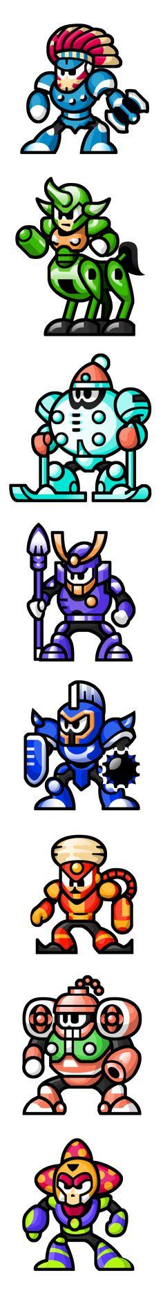 MegaMan 'Sprites'-Bosses of 6 by WaneBlade.deviantart.com on @DeviantArt