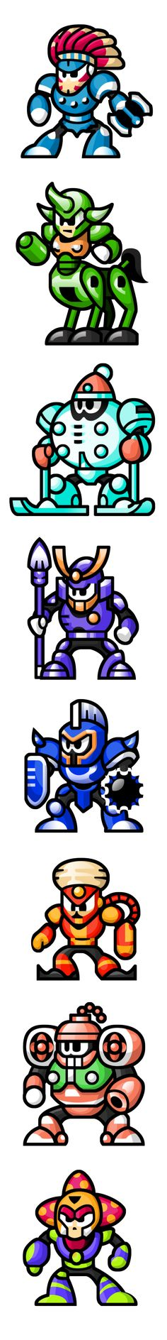 MegaMan 'Sprites'-Bosses of 6 by WaneBlade.deviantart.com on @DeviantArt