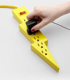 Lightning Bolt Power Strip - so fun!