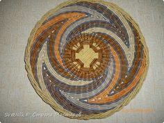 Поделка изделие Плетение Мои тарелочки Трубочки бумажные фото 5