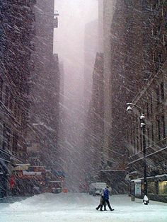 NYC. Cold, snowy Manhattan . . . !