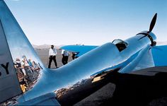 """On display at the Reno Air Races the rule was """"look but don't touch."""" And best wear sunglasses lest the highly polished aluminum skin sear your retinas."""