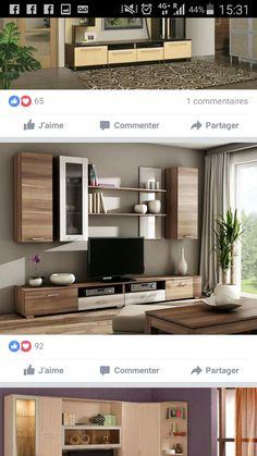 Tv Unit Furniture Design, Tv Unit Design, Tv Wall Design, Simple Living Room, Living Room Sets, Modern Living, Hotel Room Design, Interior Design Inspiration, Custom Furniture
