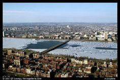 Charles River ghiacciato, Boston