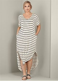 2dc349722e Shop women's plus size STRIPED MAXI DRESS and find the perfect fit every  time. Order