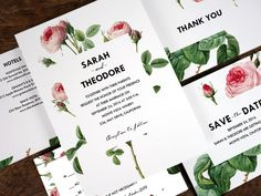 Beautiful vintage rose wedding templates perfect if you're planning a beautiful wedding on a budget. The wedding template pack includes all the wedding printables you need.  Just download, print, cut and/or fold! You can make as many as you want, whenever you like.