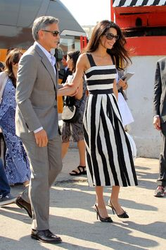 Amal Clooney Meets with President Nasheed of the Maldives - Pictures of Amal Clooney's Top Fashion Moments