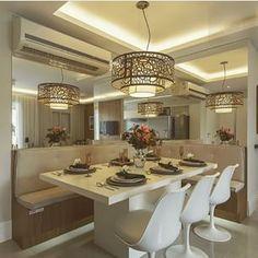 Decore Interiores ❉ Sala de jantar: Renata Cafaro