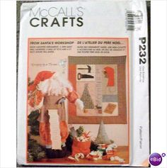 Pattern McCalls Crafts Santa and Wall Hanging #P232 Uncut 023795023214 on eBid United States