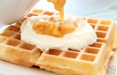 Crispy Belgian Waffle recipe with 4 tips that make these the BEST waffles ever! Simple waffle recipe that everyone loves. Waffle Recipe For 2, Best Belgian Waffle Recipe, Waffle Batter Recipe, Waffle Mix Recipes, Belgian Waffle Mix, Sour Cream Banana Bread, Banana Waffles, Pancakes, Belgium Waffles