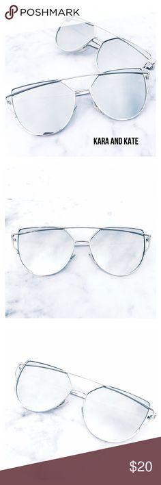 Silver Mirrored Sunglasses, Aviator Sunglasses This listing is for a pair of silver mirrored sunglasses. Aviator sunglasses. Trending sunglasses. These are so chic! Spring/summer must have. UV protection. Brand new. Price is firm unless bundled. Thank you  Accessories Glasses