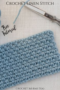 Learnhow to crochet the linen stitch! This stitch is also called the Seed stitch, the Moss stitch, the Woven stitch and the Granite stitch. Crochet Stitches For Blankets, Crochet For Beginners Blanket, Crochet Stitches Patterns, Knitting Patterns, Sewing Patterns, Linen Stitch Crochet, Free Crochet, Moss Stitch, Seed Stitch
