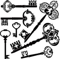 Downloadable Vintage keys | Digi Stamps