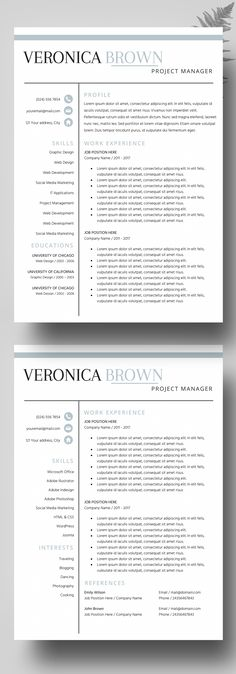 Resume Template - Resume Builder - CV Template - Free Cover Letter - resume builder for mac